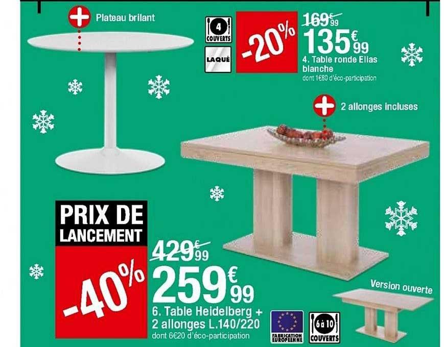 https www icatalogue fr i but table ronde ellas blanche table heidelberg 2 allonges 259738
