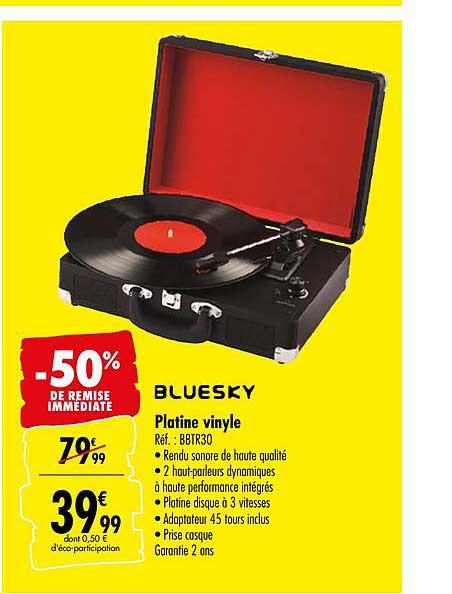 offre platine vinyle bluesky 50 de