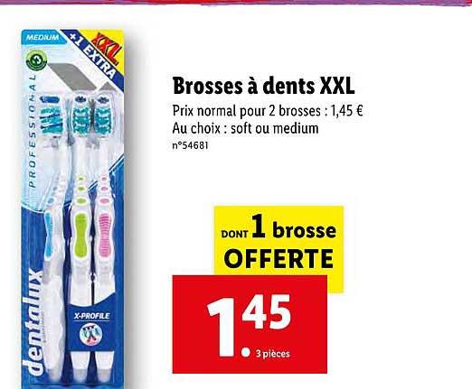Offre Brosses A Dents Xxl Dentalux Chez Lidl