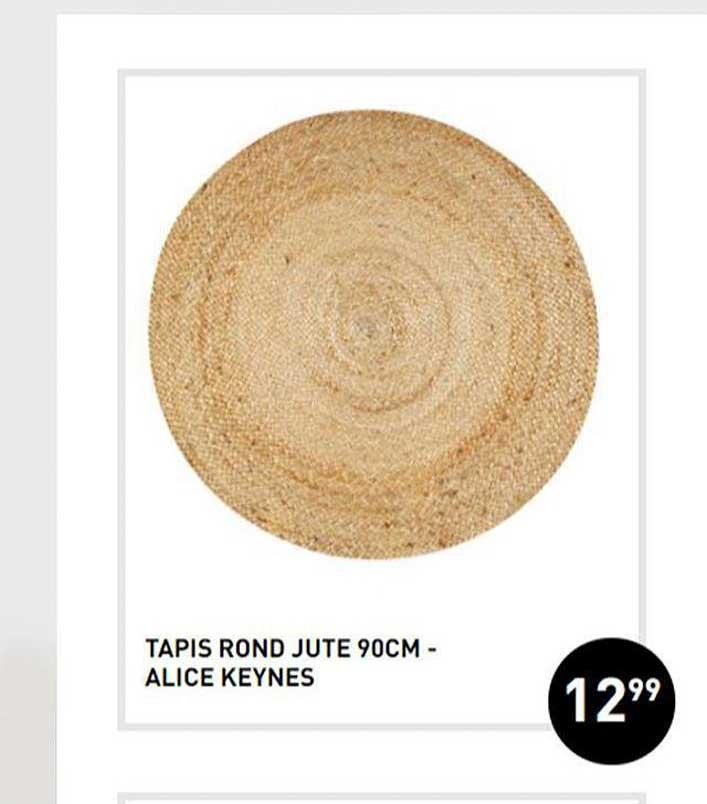 offre tapis rond jute 90cm declic