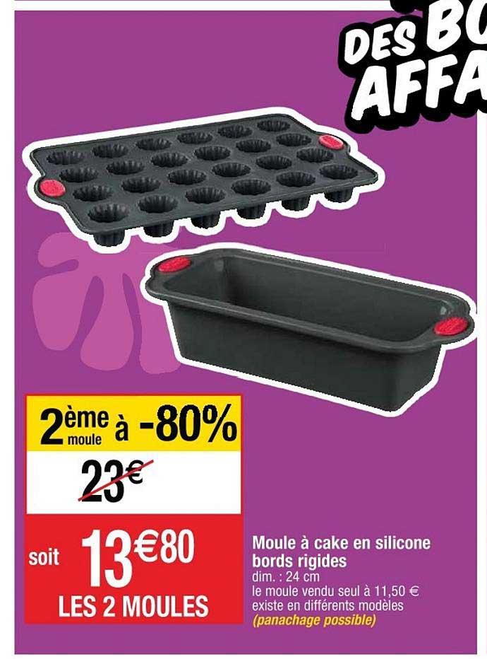 offre moule a cake en silicone bords