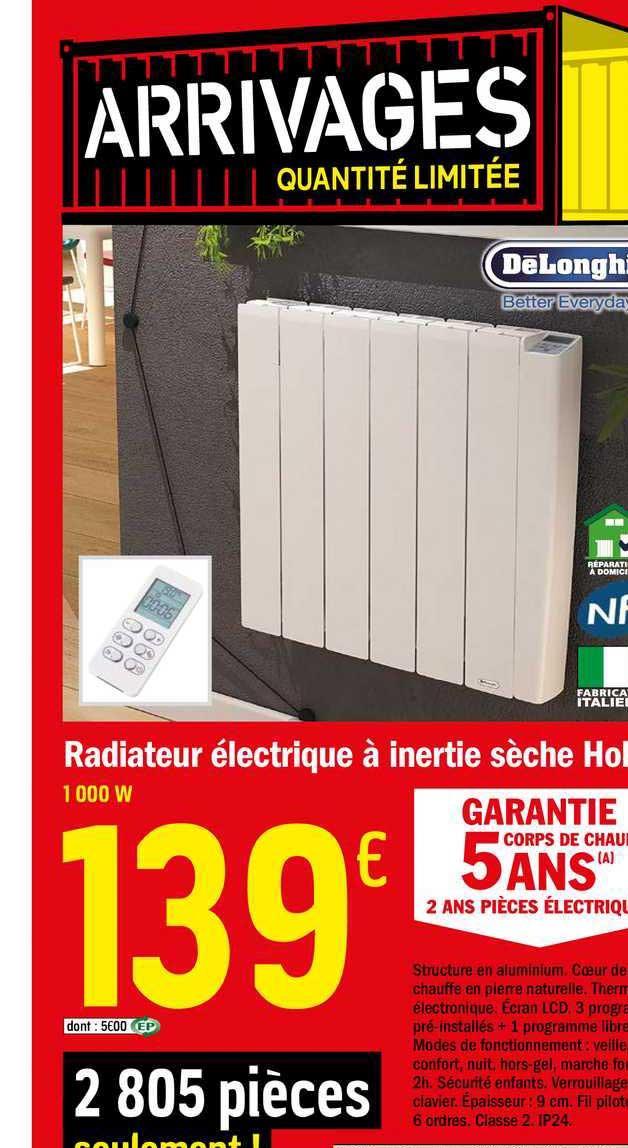 Offre Radiateur Electrique A Inertie Seche Chez Brico Depot