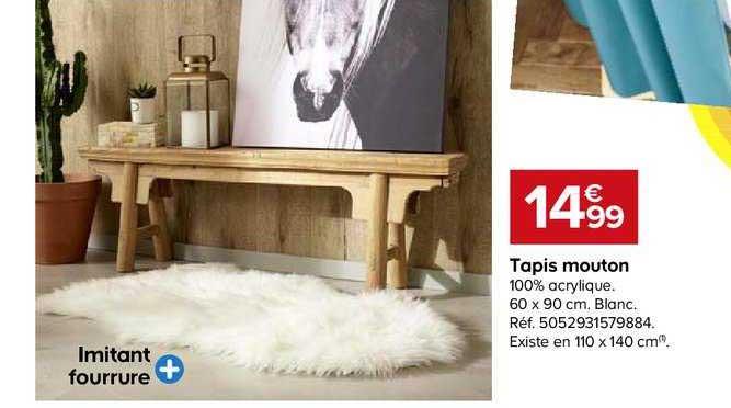 offre tapis mouton chez castorama