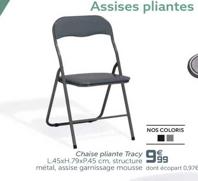 offre chaise pliante tracy chez gifi