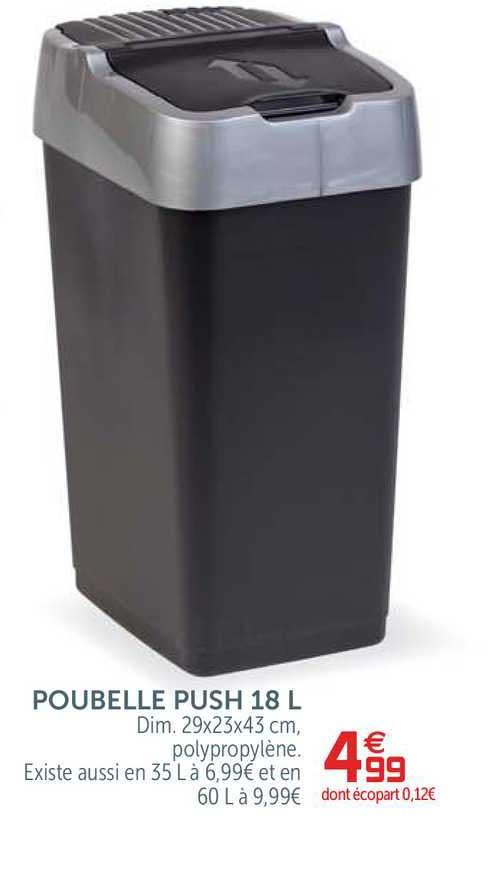 offre poubelle push 18 l chez gifi
