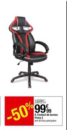 offre fauteuil de bureau prime 2 chez but