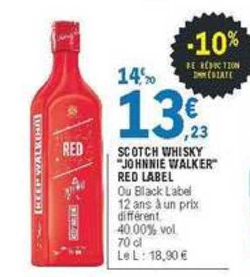 scotch whisky johnnie walker red label