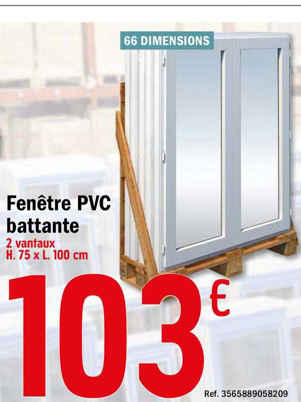 Offre Fenetre Pvc Battante Chez Brico Depot