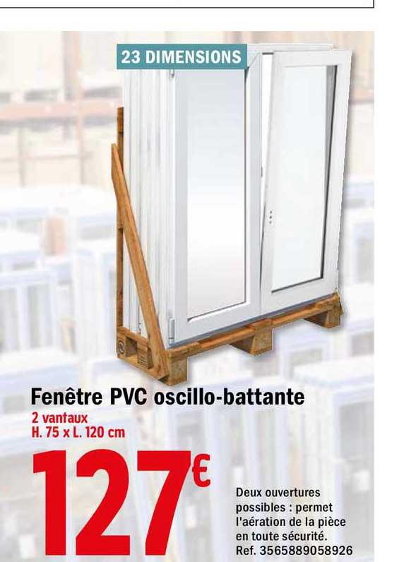 Offre Fenetre Pvc Oscillo Battante Chez Brico Depot