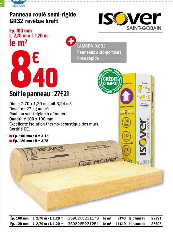 Offre Panneau Roule Semi Rigide Gr32 Revetue Kraft Chez Brico Depot