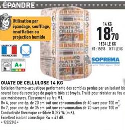 Offre Ouate De Cellulose 14 Kg Chez Brico Cash
