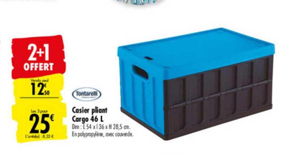 offre casier pliant cargo 46 l