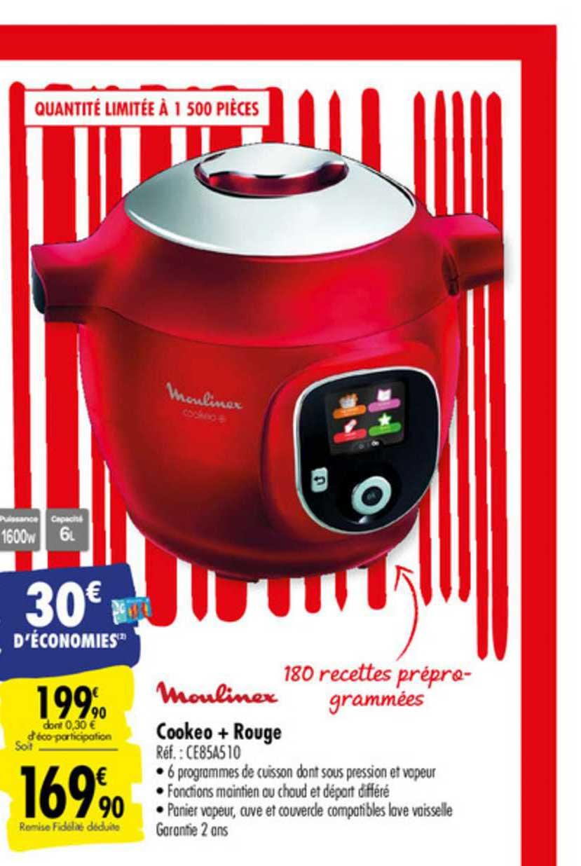 Cookeo Pas Cher Leclerc : cookeo, leclerc, Offre, Cookeo, Rouge, Moulinex, Carrefour