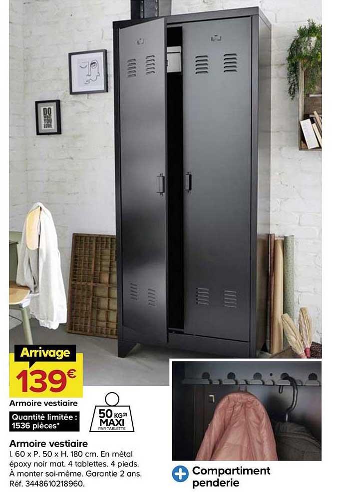 offre armoire vestiaire chez castorama