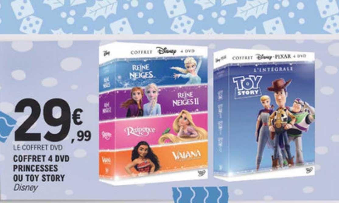 offre coffret 4 dvd princesses ou toy
