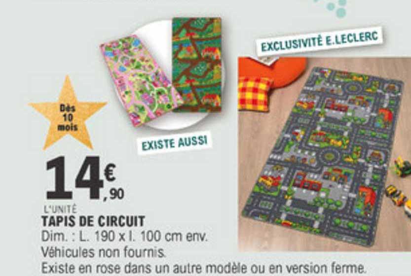 offre tapis de circuit chez e leclerc
