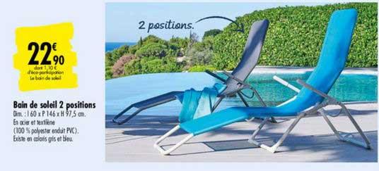 offre bain de soleil pliant dream chez gifi