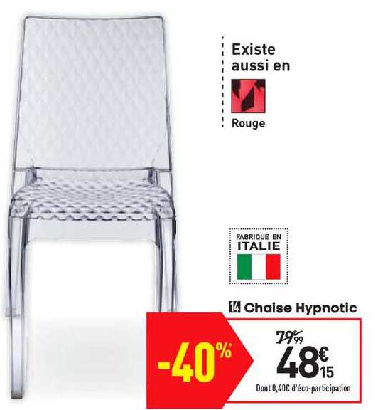 offre chaise hypnotic chez conforama