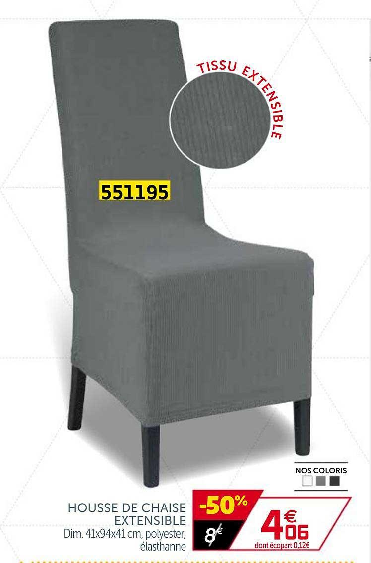 offre housse de chaise extensible chez gifi