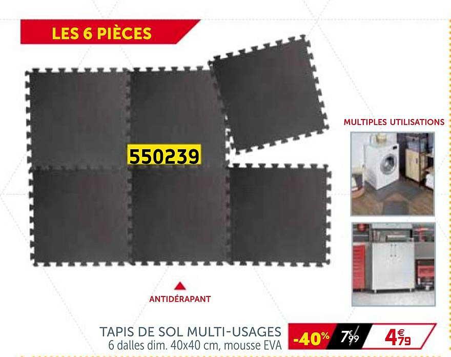 offre tapis de sol multi usages chez gifi