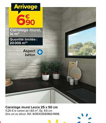 offre carrelage mural lecco 25 x 50 cm