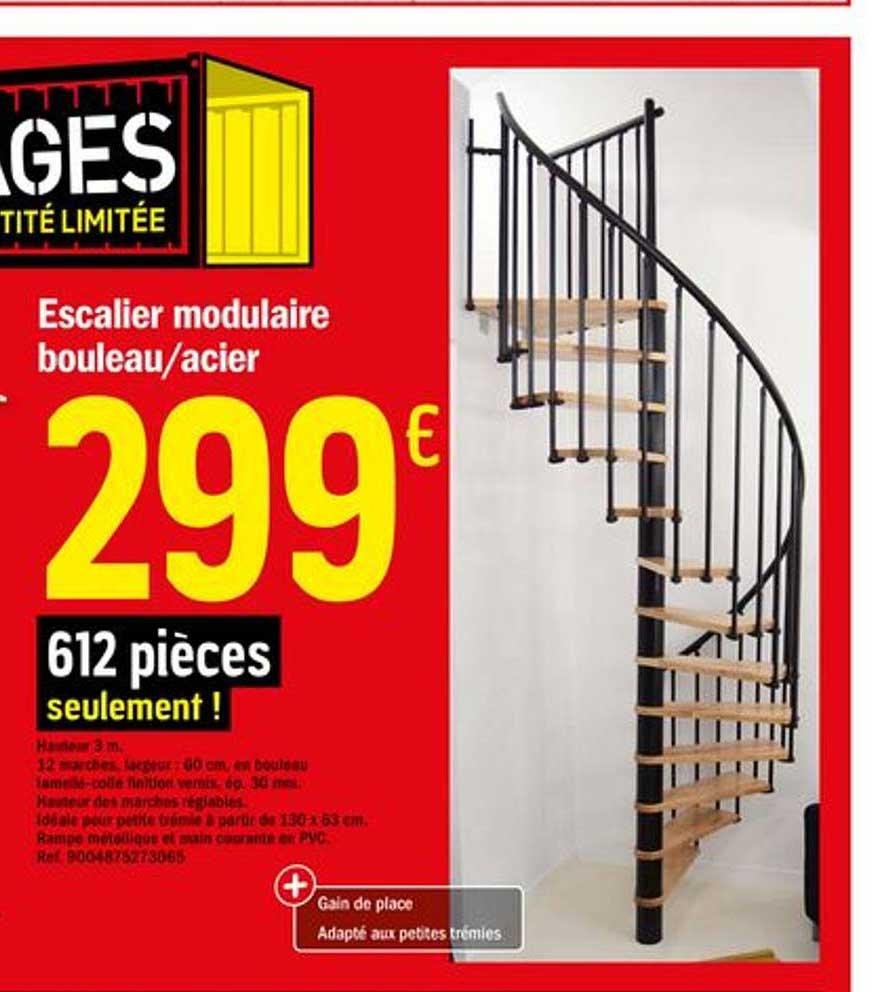 Offre Escalier Modulaire Bouleau Acier Chez Brico Depot