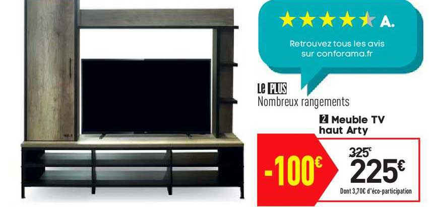offre meuble tv haut arty chez conforama