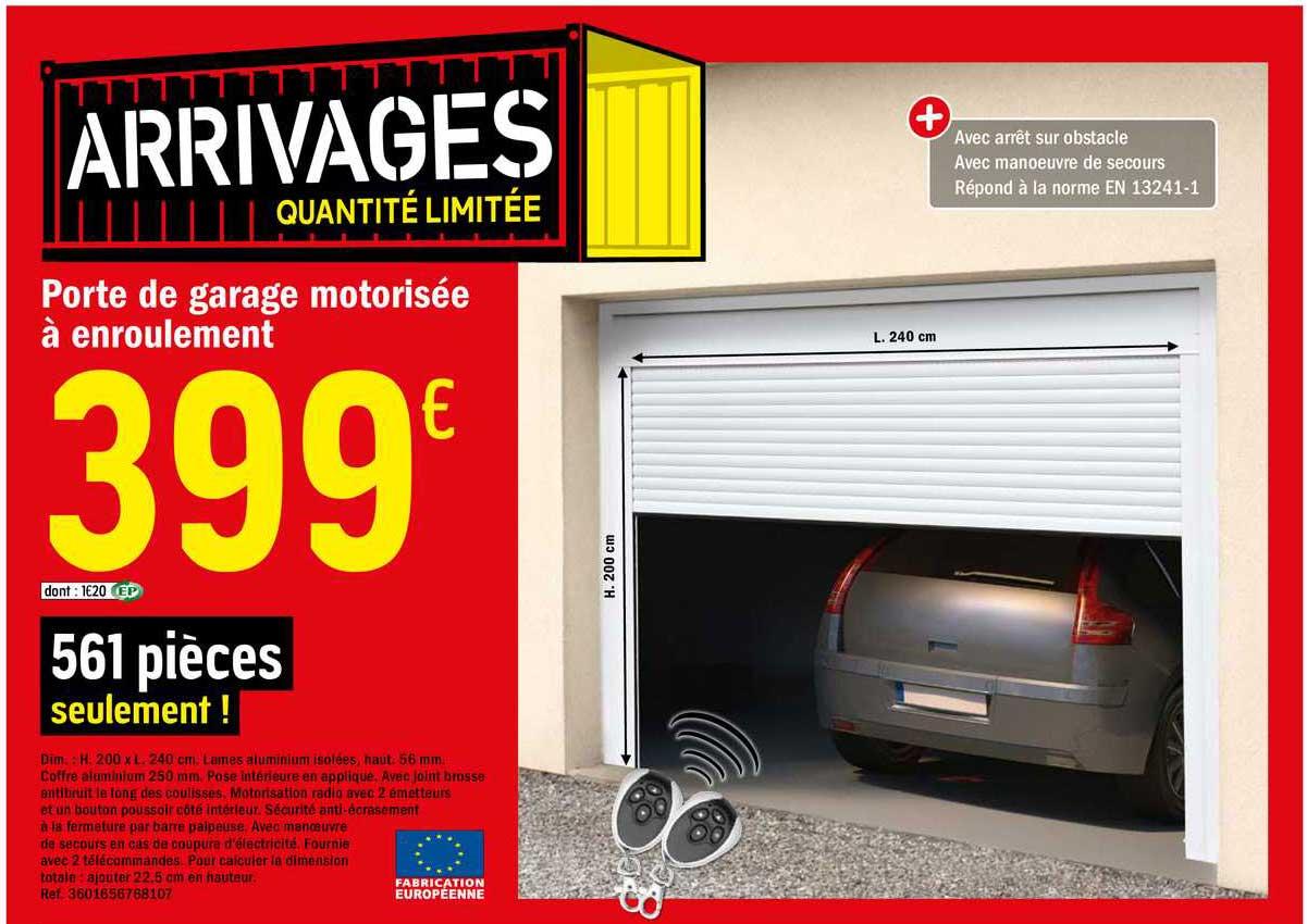 Offre Porte De Garage Motorisee A Enroulement Chez Brico Depot