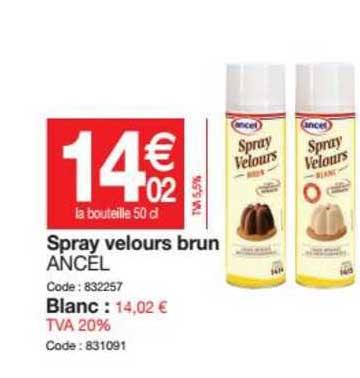 offre spray velours brun ancel chez
