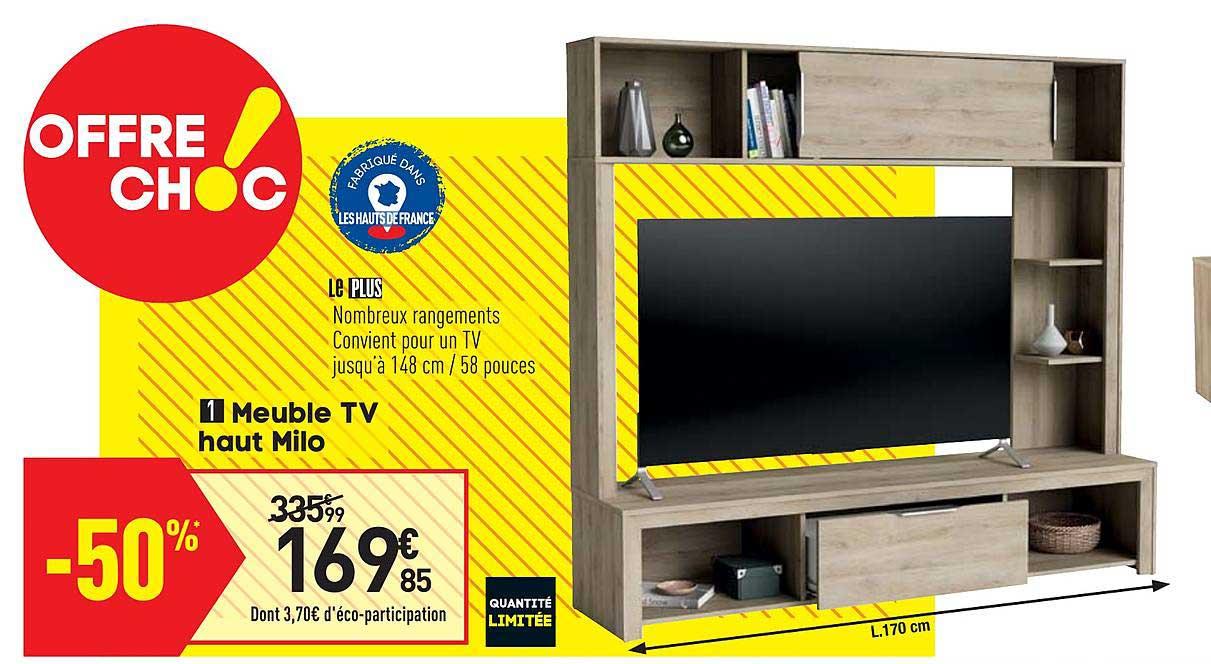 offre meuble tv haut milo chez conforama