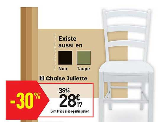 offre chaise juliette chez conforama