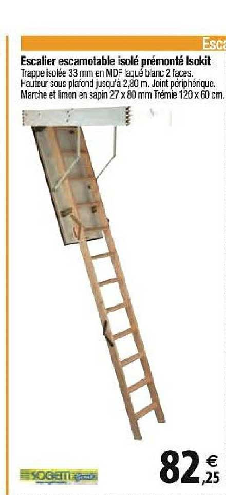 Offre Escalier Escamotable Isole Premonte Isokit Chez Tridome