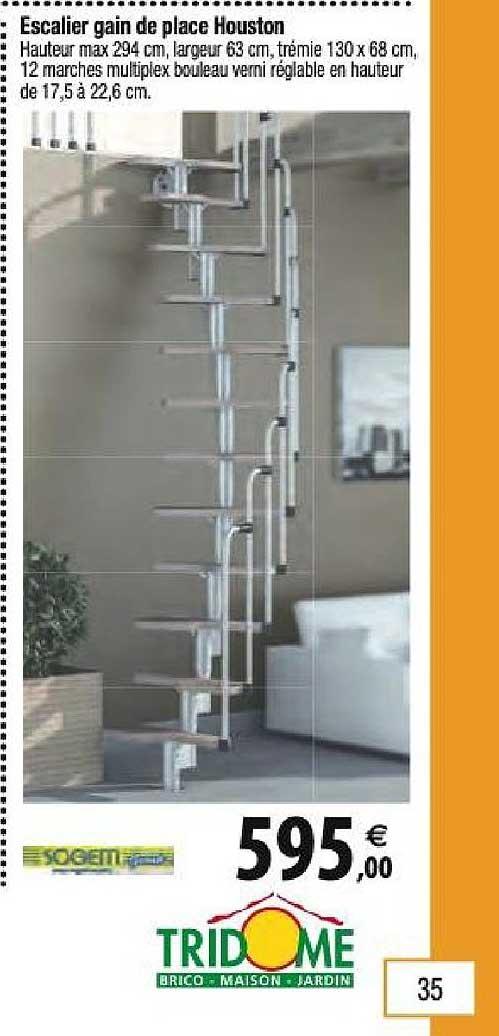 Offre Escalier Gain De Place Houston Chez Tridome