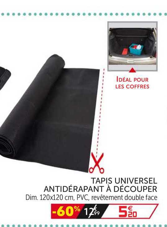 offre tapis universel antiderapant a