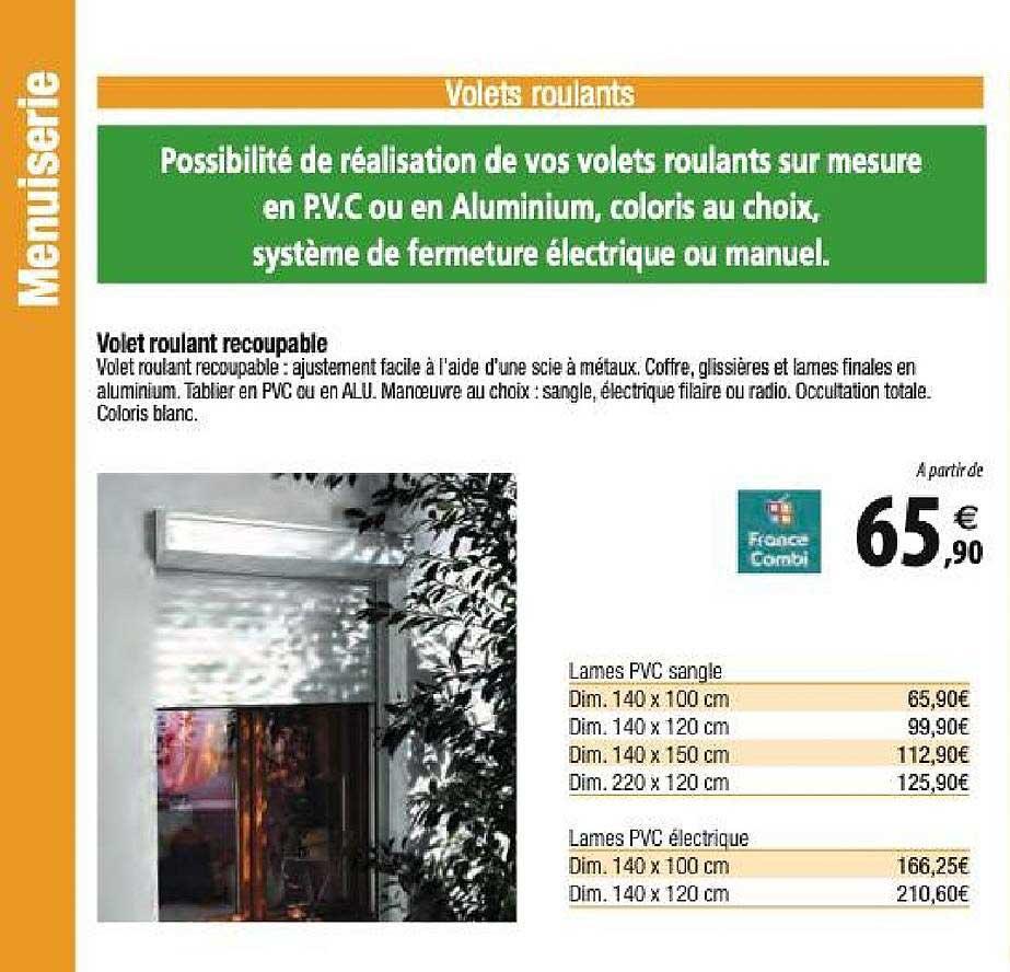 Offre Volet Roulant En Aluminium Chez Brico Cash