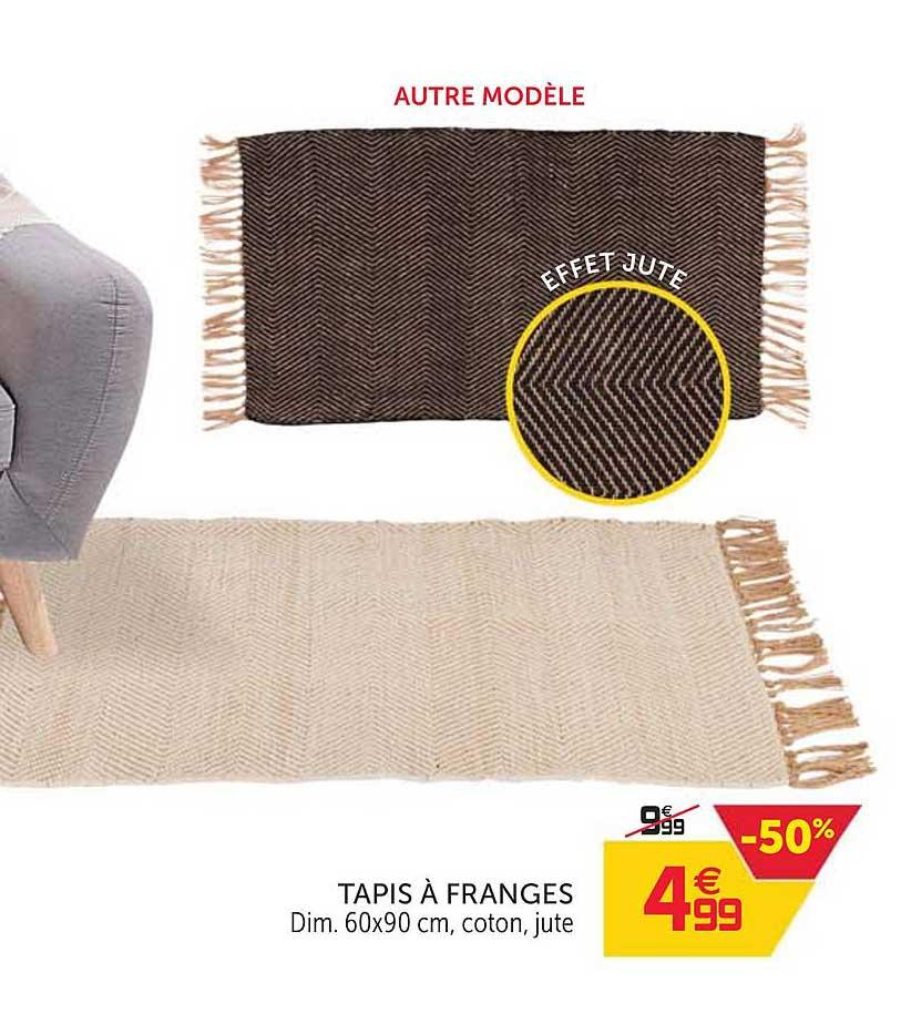 offre tapis a franges chez gifi