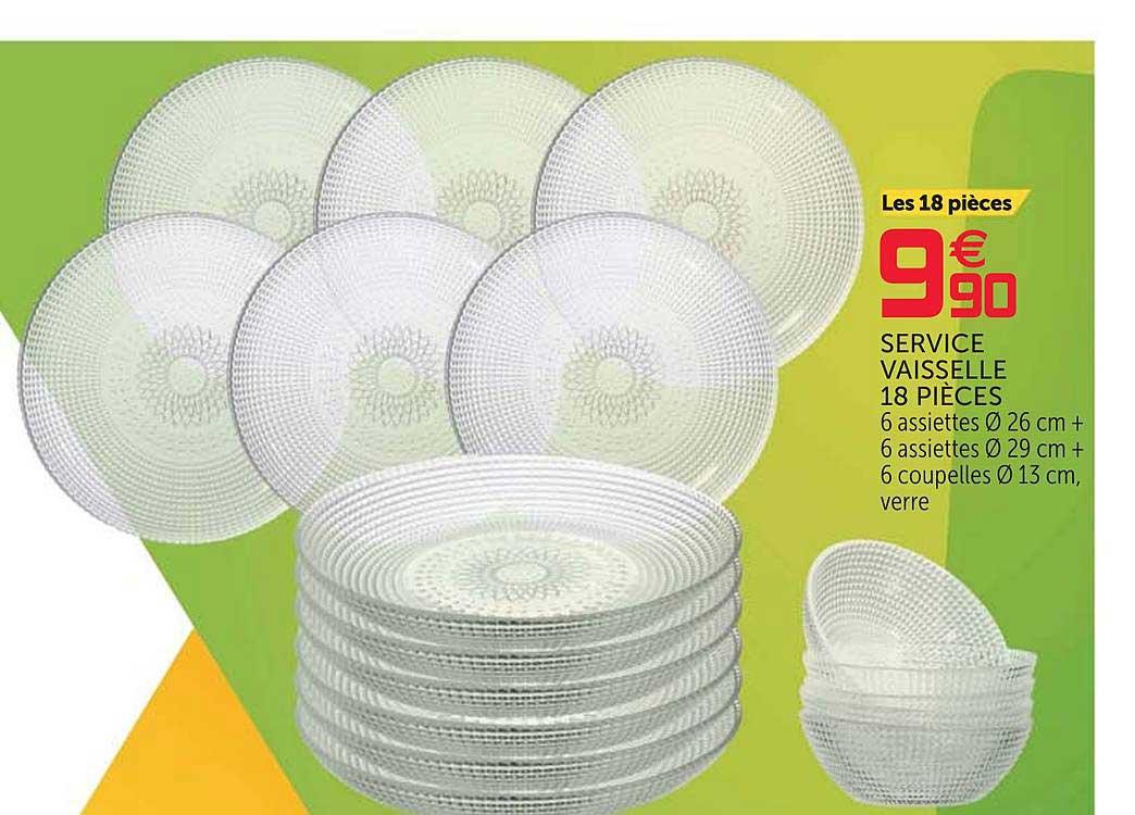offre service vaisselle 18 pieces chez gifi