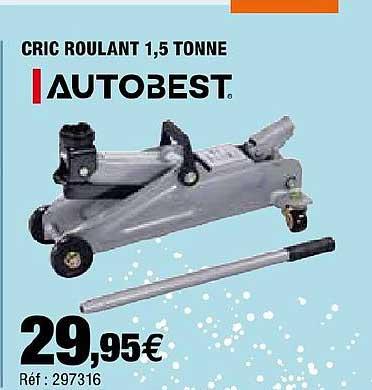 Offre Cric Roulant 1 5 Tonnes Chez Autobacs
