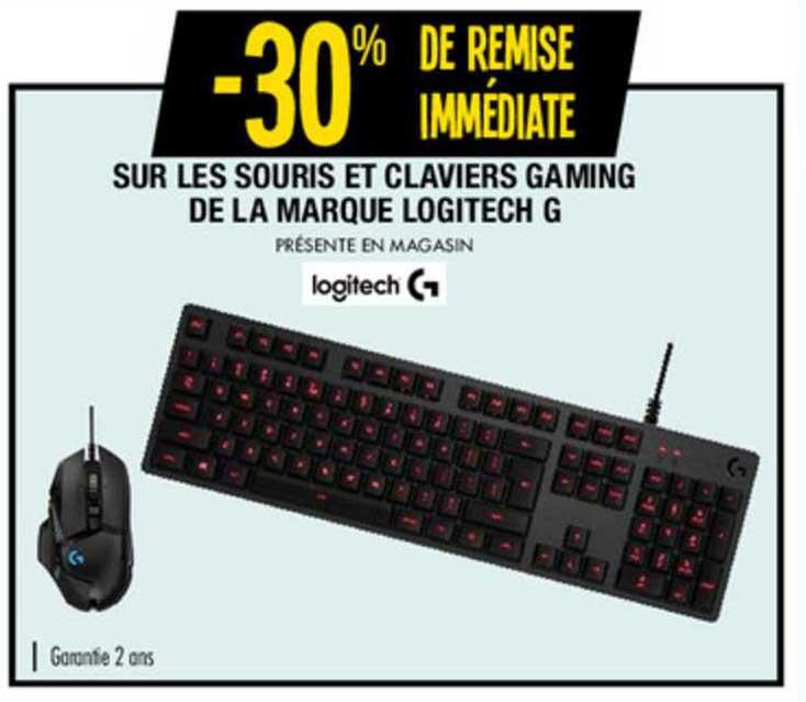 claviers gaming de la marque logitech g