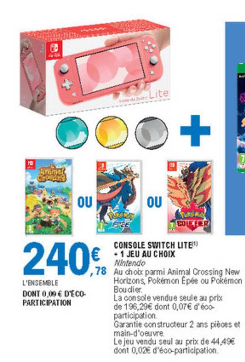 Nintendo Switch Lite Leclerc : nintendo, switch, leclerc, Offre, Console, Switch, Choix, Leclerc