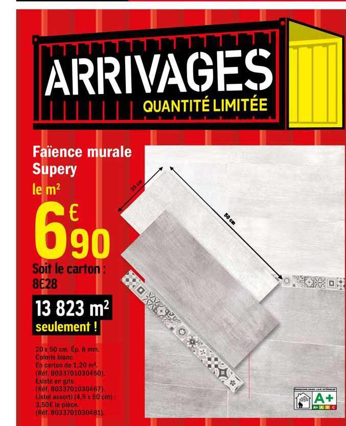 Offre Faience Murale Supery Chez Brico Depot
