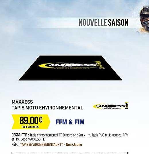 offre maxxess tapis moto