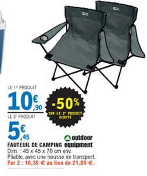 offre fauteuil de camping outdoor