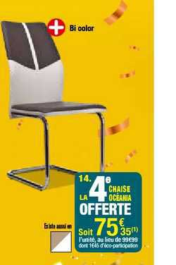 offre chaise oceania chez but