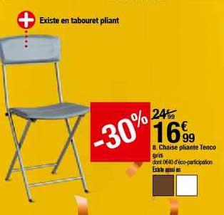 offre chaise pliante tenco gris 30