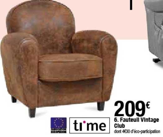 offre fauteuil vintage club time chez but