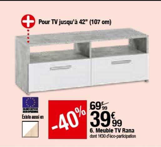 offre meuble tv samson 2 modern living