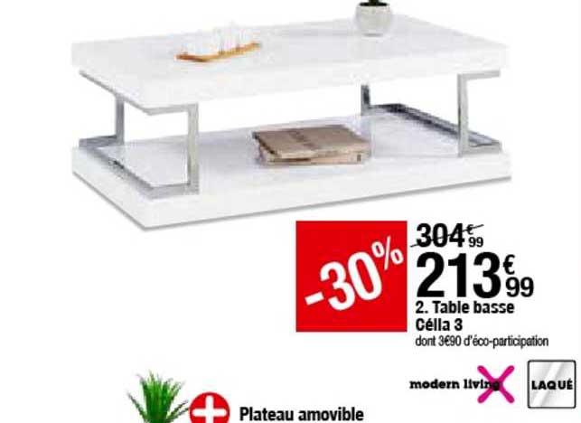 table basse celia 3 modern living chez but