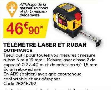 laser et ruban outifrance chez bricomarche
