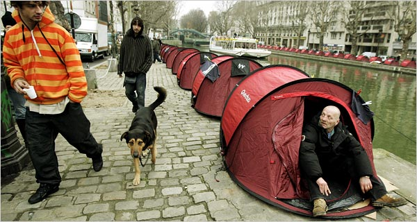 MiddleClass French Join SleepIn Over Homelessness  The